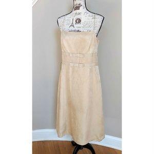 Ann Taylor Champagne Brocade NWT Cocktail Dress